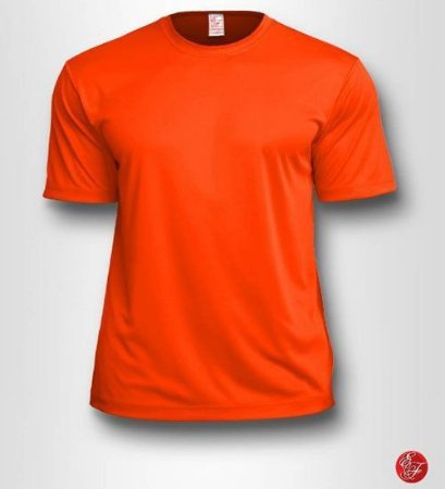 Camiseta Infantil Laranja - 100% Poliéster