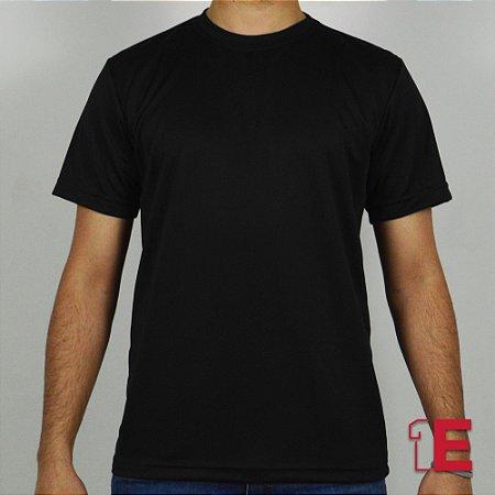 Camiseta Preta, Dry Fit Liso