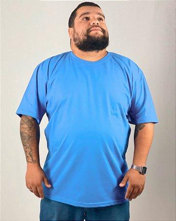 Camiseta Azul Celeste, Extra Grande, 100% Algodão, Fio 30.1 Penteado