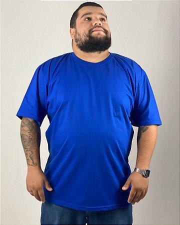 Camiseta Azul Royal, Extra Grande, 100% Algodão, Fio 30.1 Penteado