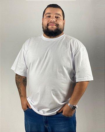 Camiseta Branca, Extra Grande, 100% Algodão, Fio 30.1 Penteado