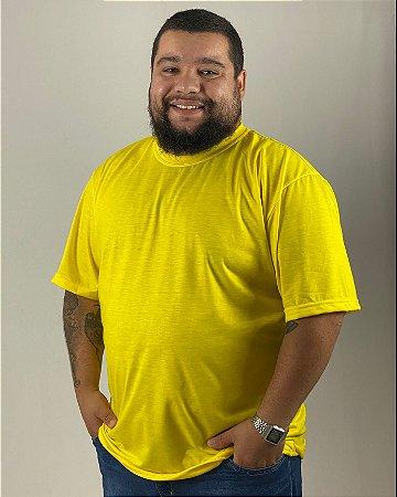 Camiseta Amarelo Canário, Extra Grande, 100% Poliéster