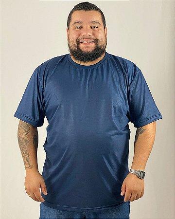 Camiseta Azul Marinho, Extra Grande, 100% Poliéster