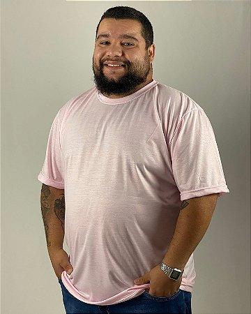 Camiseta Rosa Claro, Extra Grande, 100% Poliéster