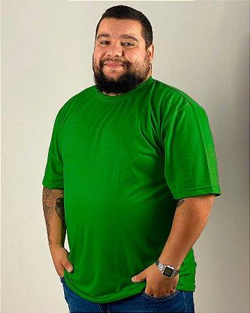 Camiseta Verde Bandeira, Extra Grande, 100% Poliéster