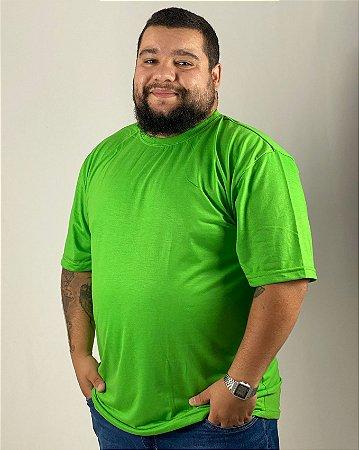 Camiseta Verde Limão, Extra Grande, 100% Poliéster