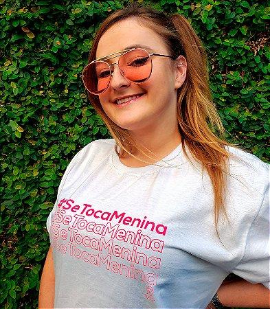 Camiseta Outubro Rosa -  Se toca menina - 100% Algodão