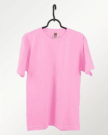 Camiseta Rosa Claro, Extra Grande, 100% Algodão, Fio 30.1 Penteado