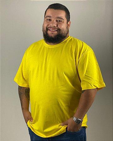 Camiseta Amarelo Canário, Extra Grande, 100% Algodão, Fio 30.1 Penteado