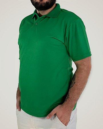Camiseta Polo Verde Bandeira, Poliviscose
