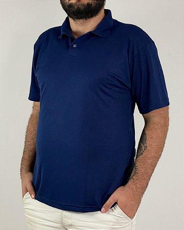 Camiseta Polo Azul Marinho, Extra Grande, Poliviscose