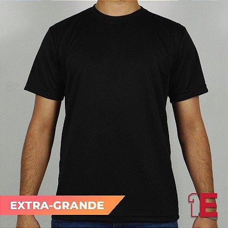 Camiseta Preta, Extra Grande, Dry Fit Colmeia