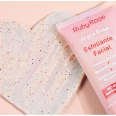 Esfoliante facial - Argila Rosa - Ruby Rose
