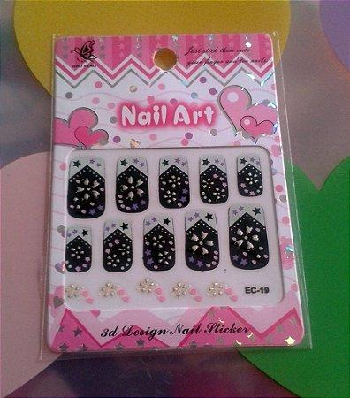 Adesivo para unhas - Nail Art
