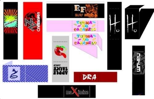 Etiqueta bordada bandeirinha <Consulte-nos>