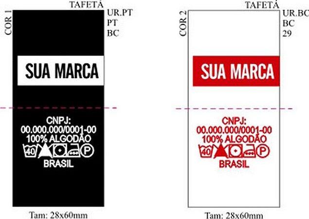 Etiqueta Bordada para roupas Bandeirinha
