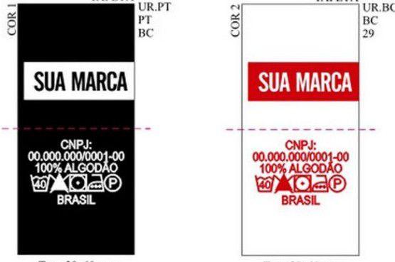 Etiqueta bordada alta definição Modelo Bandeira/Clips