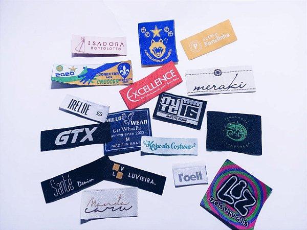 Etiqueta bordada para Confecções  /Personalizada com sua Marca