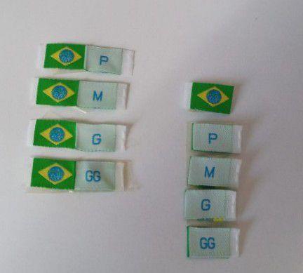 ETIQUETAS DO BRASIL MAIS TAMANHOS (PRONTA ENTREGA)