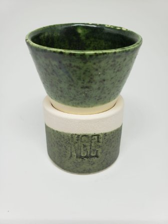 Xícara Cone Verde 100ml