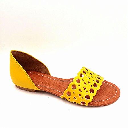 123 - Rasteira Amarela - Ref 09