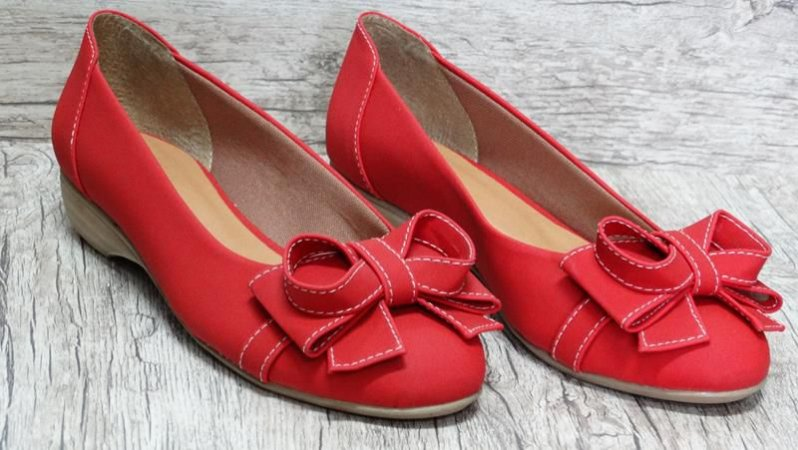 Sapatilha c/ salto Vermelha - Ref 016