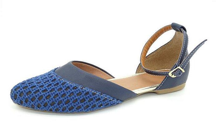 Sapatilha Salomé azul - Ref 010