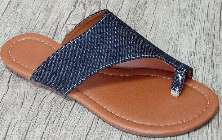 U - Rasteira jeans  - Ref 508