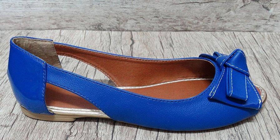Sapatilha Azul Aberta  - Ref 099