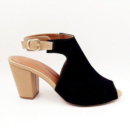 559a74d0af Sandal Boot Preto - Salto Grosso - Direto da fabrica - Jaú   SP ...