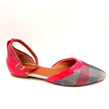 239 - Sapatilha Salomé Pink Verniz - Ref 010