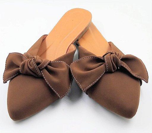 mulle - bico fino - marron com laço