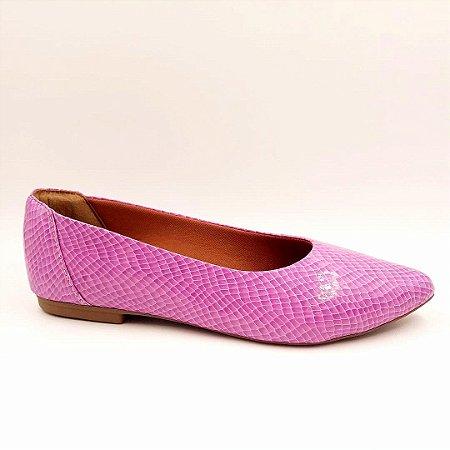 252 - Sapatilha verniz cobra lilás