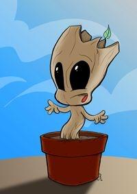 Pôster Baby Groot - Versão Levados