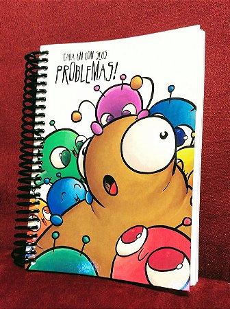 Caderno Problemas e Soluções capa maleável - Pequeno