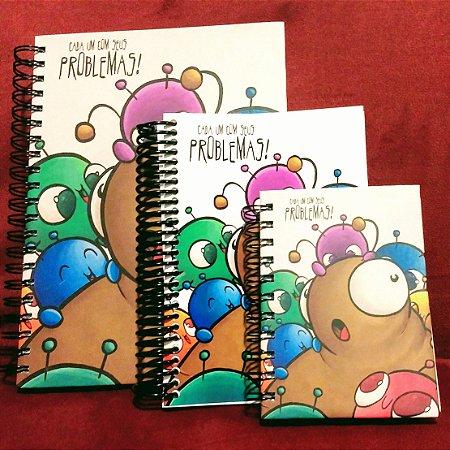 Caderno Problemas e Soluções capa dura - Grande + Caderno Problemas e Soluções capa maleável - pequeno  + Agenda Permanente Problemas e Soluções