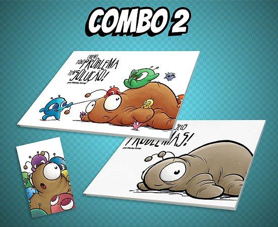 COMBO 2 - Cada Um com Seus Problemas! + (Nem) Todo Problema Tem Solução! + Ímã