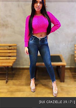 Calça Jeans Cós Desfiado [Grazielle 39.171] 3C