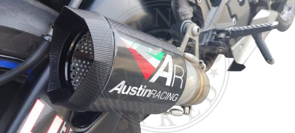 Escape Austin Racing Honda Cbr 1000 Rr 2008/2013 Fibra de Carbono