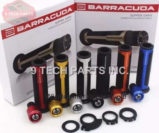 Par Manoplas E Pesos Barracuda Com Acelerador Honda NX Falcon 400