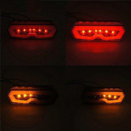 Lanterna Led Alto Brilho Com Piscas Integrados Honda CB 650 F | CBR 650 F