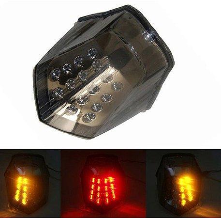 Lanterna LED SMD Blindada Integrada Com Piscas Yamaha Xj6