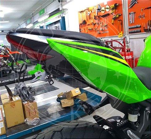 Suporte Eliminador De Placa Motostyle Kawasaki Ninja 400 Com Led