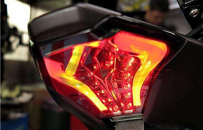 Lanterna Led Alto Brilho Com Piscas Integrados Yamaha MT 07 Até 2020