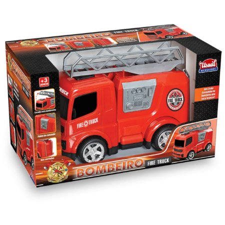 Fire Truck - Bombeiro - Usual Brinquedos