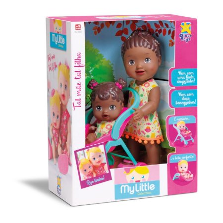 Boneca My Little Collection Tal Mae Tal Filha Negra - Divertoys
