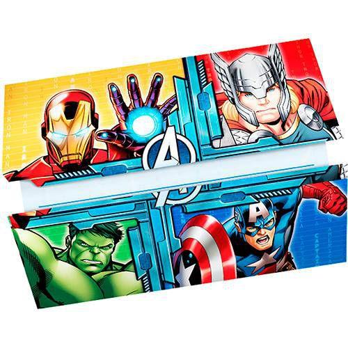 Convite Avengers (Vingadores) 8 Unidades