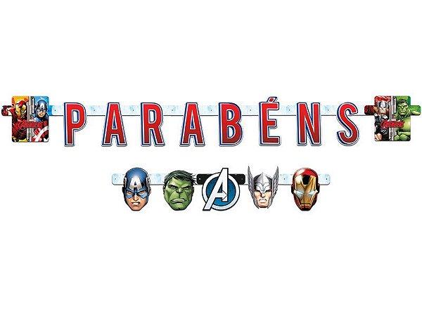 Faixa Parabéns Avengers (Vingadores)