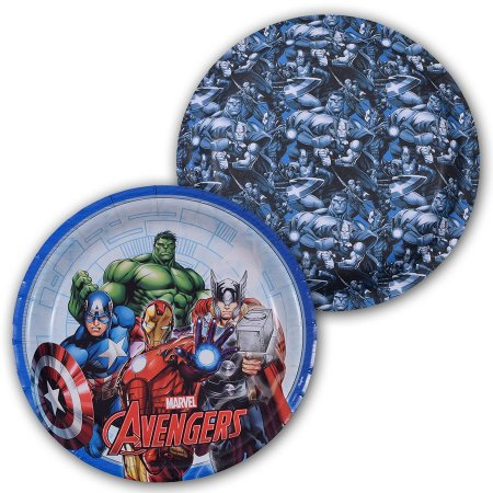 Prato Avengers (Vingadores) 18cm 8 Unidades