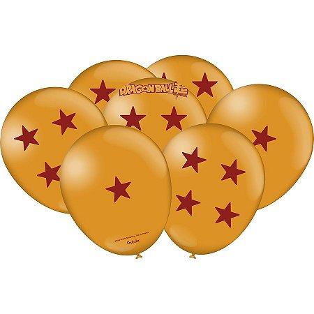 """Balão de Festa Dragon Ball 9"""" 25 Unidades"""
